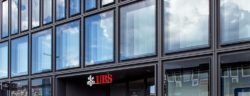 Zurich, Switzerland - 12 April, 2016: facade of the UBS office building on Europaallee street, 21. UBS AG is a Swiss global financial services company headquartered in Zurich. The company provides wealth management, asset management and investment banking services for private, corporate, and institutional clients worldwide.
